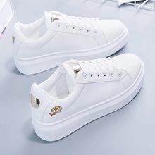2020 nova primavera tenis feminino laço-up sapatos brancos mulher couro do plutônio cor sólida sapatos femininos casuais tênis