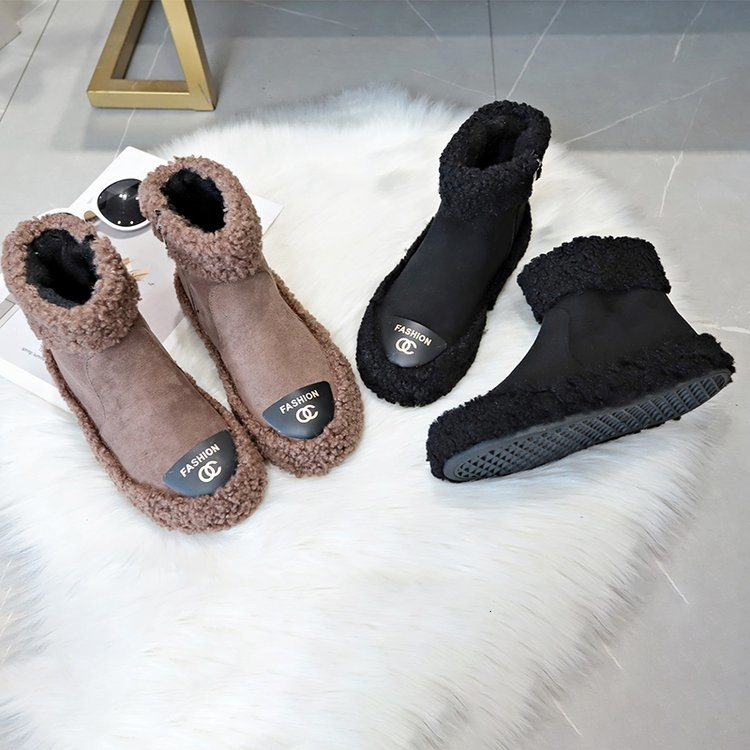 Women Boots 2019 New Plush Snow Boots For Winter Shoes Women Casual Lightweight Ankle Botas Mujer Warm Winter Boots Female 76