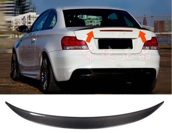 High quality Carbon Fiber Car Rear Trunk Lip Spoiler Wing Fits For BMW 1 Series E82 E88 120i 135i 128i 2008 2009 2010 2011 2012 image