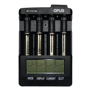 Image 2 - Nuovo OPUS BT C3100 Li Ion Battery Charger NiMH Caricabatteria V2.2 Universale Quattro Slot LCD Intelligente Rechargeable Battery Charger