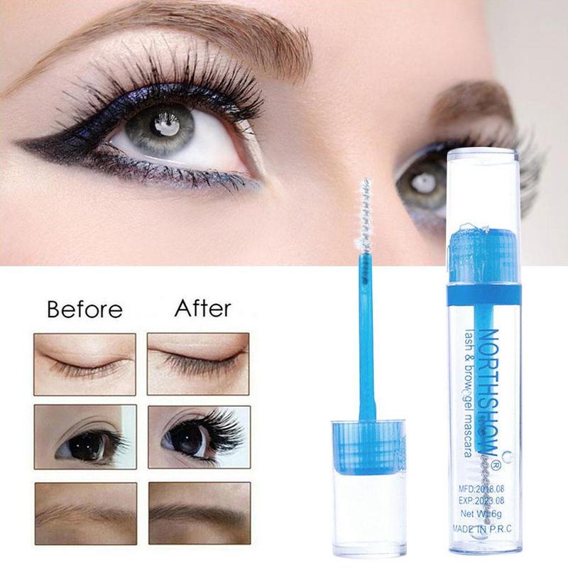 1PC Transparent Waterproof Makeup Eyelash Long Curling Mascara Eye Lashes Extension Fast Dry White Eyelashes Mascara