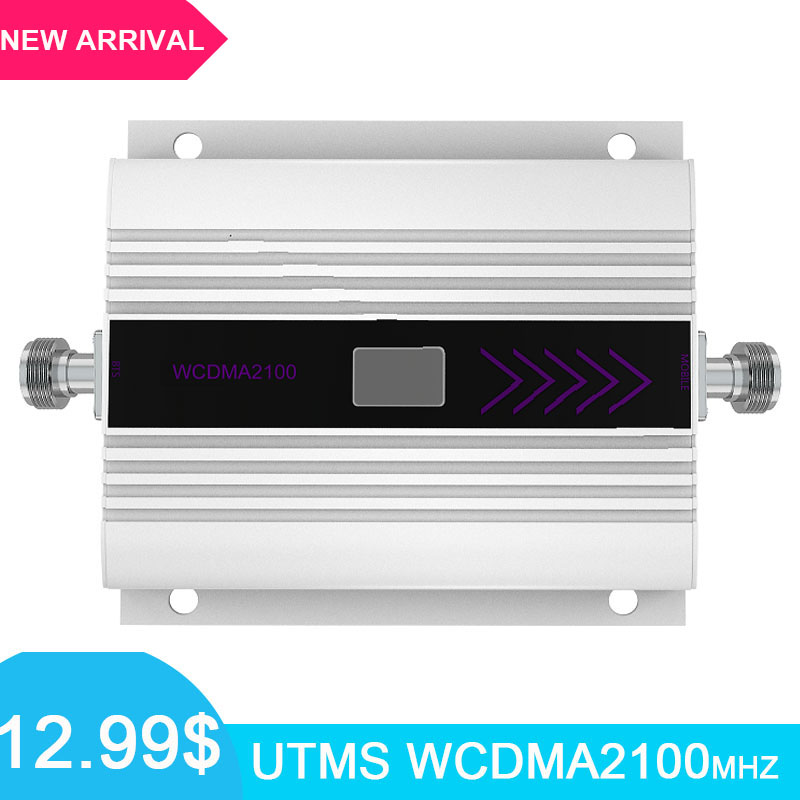 LCD Display 3G Mobile Signal Booster WCDMA 2100MHz Repeater 3g Cellular Signal Booster Amplifier Gain 60dB For Home And Office *