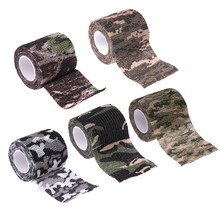Tactical Camo Tape Self-Adhesive Camouflage Tape Outdoor Hunting Shooting Stealth Tape Rifle Gun Stretch Wrap Cover
