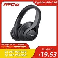 Mpow-auriculares inalámbricos 059 Pro/Lite, cascos con Bluetooth 5,0, 60h de tiempo de reproducción, sonido estéreo Hi-Fi, CVC 6,0, reducción de ruido para teléfono móvil y PC