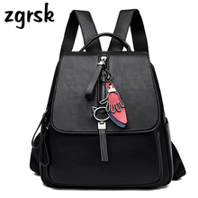 купить Female Backpack Cute Backpacks Korean Style Solid Black Vintage Teenage Backpacks For Girls Sac A Dos Purse School Bag Mochila по цене 1339.1 рублей