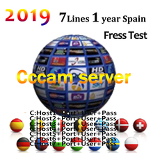 2019 most stable cccams for Europe spain Satellite tv Receiver 7 lines 1 year WIFI FULL HD TV decoder cccam serve