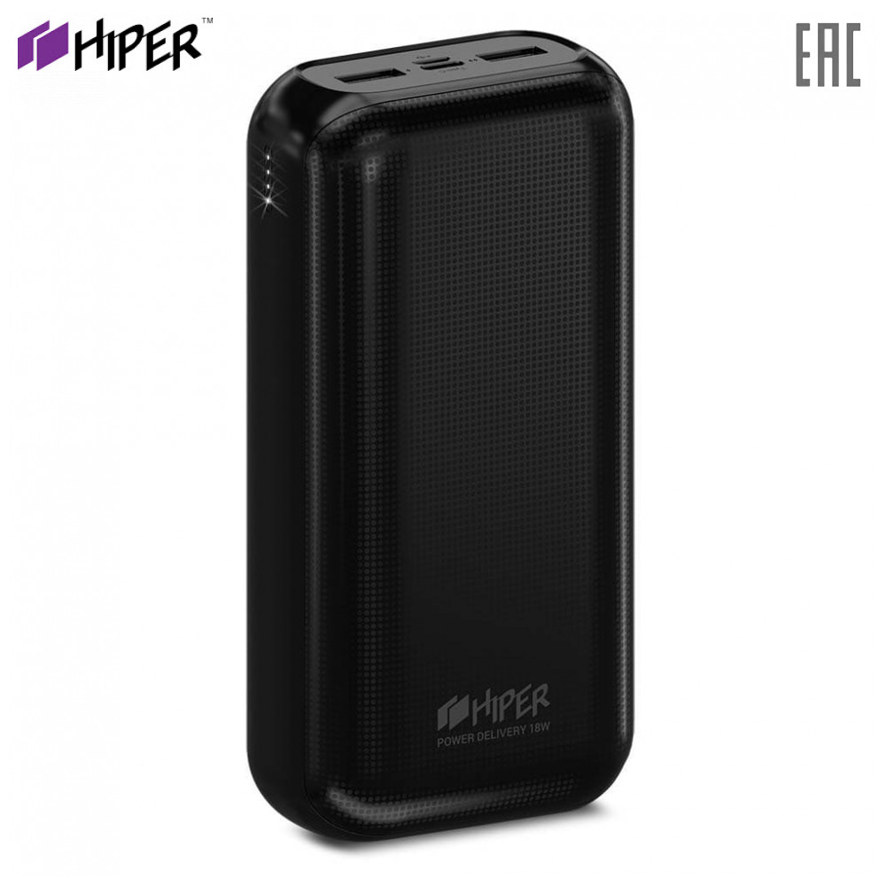 Power Bank HIPER RPX30000 fast charge PD QC type-c macbook connector charger compact power banks external battery Powerbank