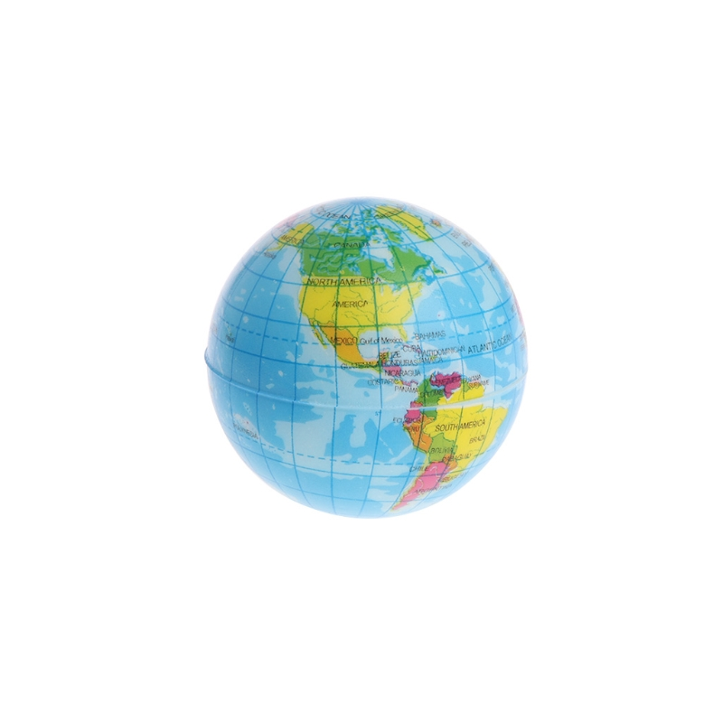 Fast Rising Squeeze Antistress Stress Relief World Map Ball Planet Earth Y4UD