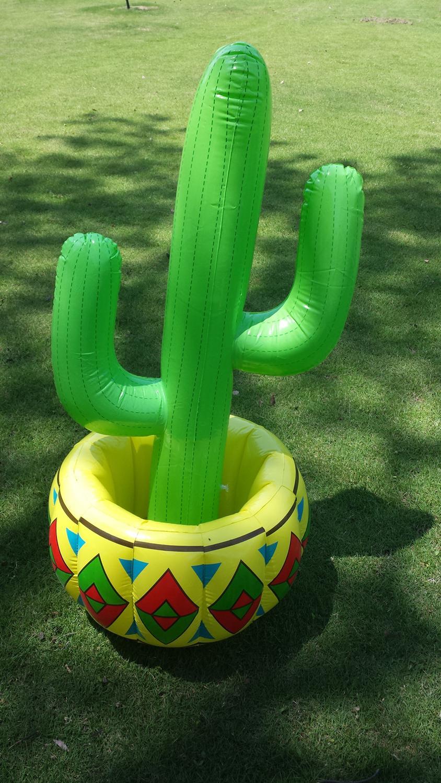 Inflatable Water Toy Stage Bar Outdoor Simulation Flowerpot Bar Freezer Ice Bucket Cactus Ice Bucket