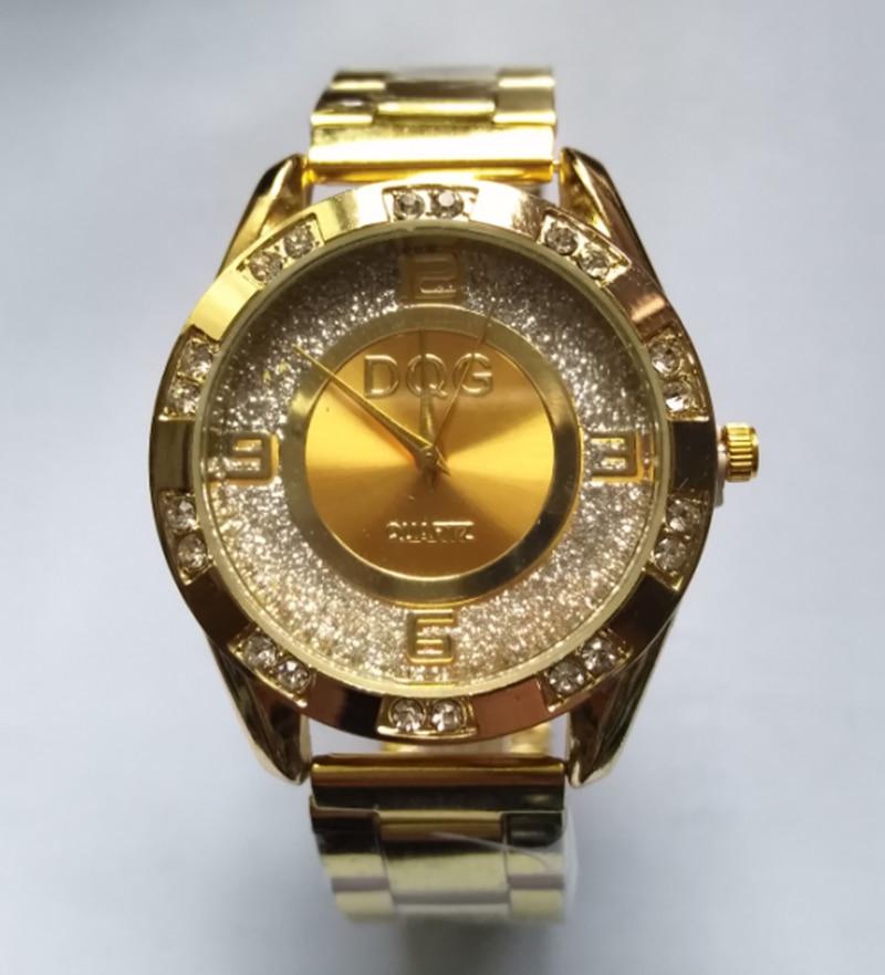 Relojes Luxury Brand DQG Golden Metal Mesh Women Quartz Wrist Watch New Fashion Casual Crystal Ladies Watches Relogio Feminino