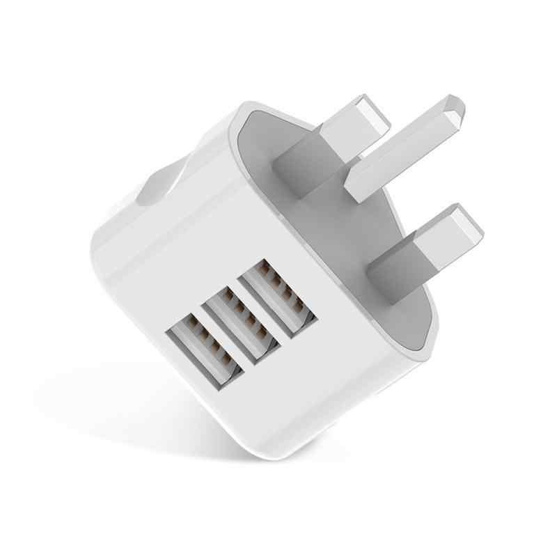 1 Máy Tính Đa Năng Hoa Kỳ Anh AU EU Cắm USA Euro Châu Âu Du Lịch Treo Tường Sạc Chuyển Đổi 3 Cổng USB dành Cho Điện Thoại Di Động Viên