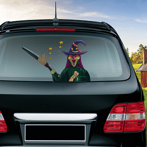 Image 3 - Halloween Horror Character Wiper Sticker Removable Car Rear Windshield Waving Wiper Sticker Halloween Car Sticker