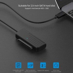 Image 2 - محول HDD من usb 3.0 إلى كابل محول من النوع C إلى SATA3 ، 2.5 بوصة SATA ، قرص صلب SSD ، 5 جيجابت في الثانية ، JMS578