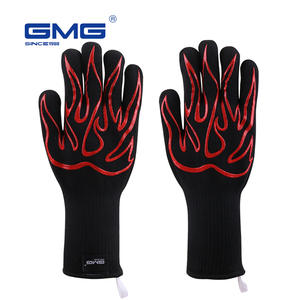 BBQ Grill Gloves Heat Resistant GMG New Material 1472℉ Silicone Non-Slip Cooking Baking Barbecue Oven Gloves
