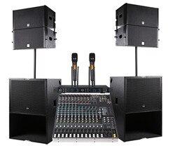 Professional Audio DJ Line Array Lautsprecher Q1 Für Bühne Monitor Digitale Konsole Audio DJ Mixer Power Verstärker Woofer 2*10 ICH