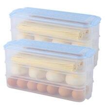 2 упаковки пластиковых ящиков для хранения холодильников контейнеры