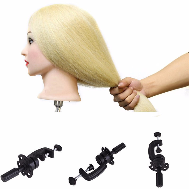 Salon Cosmetology Mannequin Table Hair Exercise Dummy Doll Head Mold Bracket Desktop Fixed Clamp Stand Training Head Holder New