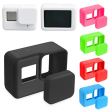 For Go Pro Accessories Action Camera Case Protective Silicone Case Skin +Lens Cap Cover For GoPro Hero 5 6 7 Black Hero Camera(China)