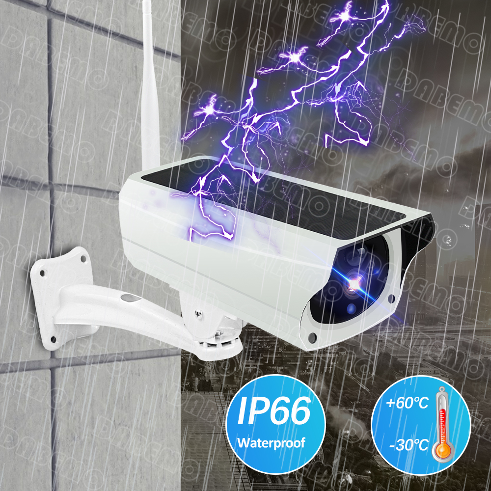 3MP HD Outdoor WIFI Camhi Pro Bullet Rechargeable Battery  Wireless Security Camera Color night IP66  Waterproof Surveillance 3