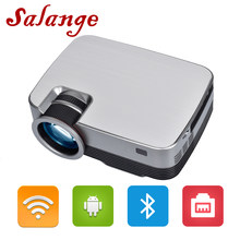 Salange Android Video Projektor Q6 1280*720P/800x480P Native Auflösung Mit WIFI Bluetooth Home kino Film Beamer(China)
