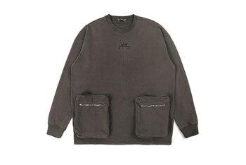 a cold wall деловые сумки A-COLD-WALL*Distressed Zipper Pocket Sweatshirts Men Women Thick Cotton External Label A Cold Wall Pullover Sweatshirts