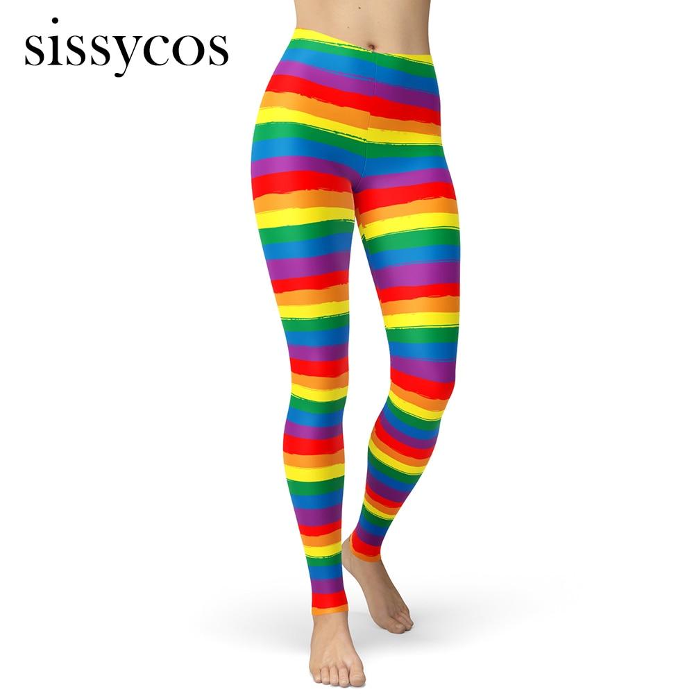 Girl Yoga Pants Rainbow Colorful Trippy Universe Starry Sky high Waist Yoga Leggings with Pockets