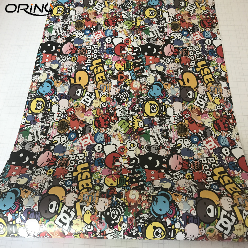 Cartoon Graffiti Sticker Bomb Vinyl Film Wrap-1