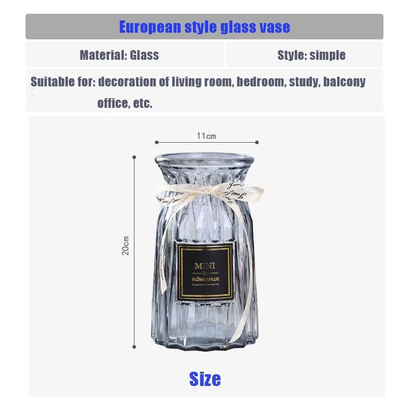 Vaso de vidro europeu criativo vaso transparente