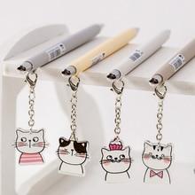 0.5mm Cute Kawaii Little Cat Pendant INS Japanese Mechanical Pencil Sketch Drawing Art Supplies School Office
