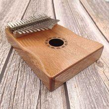 Высокое качество, 17 клавиш, калимба, большой палец, пианино для начинающих, начинающих, портативная гитара, деревянные музыкальные инструменты