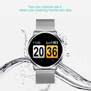 Image 4 - CYUC Q8 ساعة ذكية OLED شاشة ملونة الرجال موضة جهاز تعقب للياقة البدنية مراقب معدل ضربات القلب ضغط الدم الأكسجين عداد الخطى Smartwatch