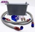 Термостат адаптер двигателя гоночный масляный охладитель комплект для автомобиля/грузовика серебро (7Row 10Row 13Row 16 Row 19 Row)