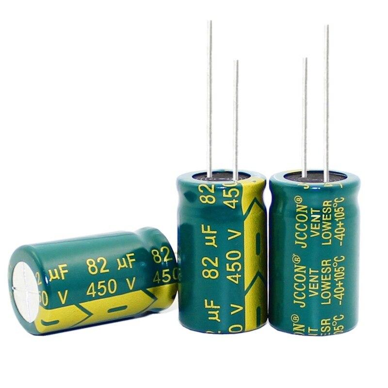 20 шт 100 шт/партия 450 в 82 мкФ 18*30 мм высокочастотный низкоимпедансный алюминиевый электролитический конденсатор 82 мкФ 450 в|Конденсаторы|   | АлиЭкспресс