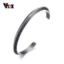 Vnox – Bracelet manchette Viking pour homme et femme, bijou rétro en acier inoxydable, bijou unisexe pour cérémonie de rue