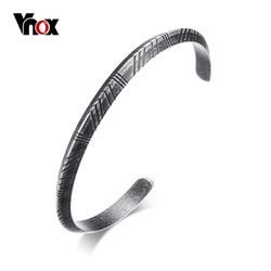 Vnox Men's Viking Cuff Bracelet Bangle Retro Tone Stainless Steel Pulseira Female Male Street Ceremony Unisex Jewelry