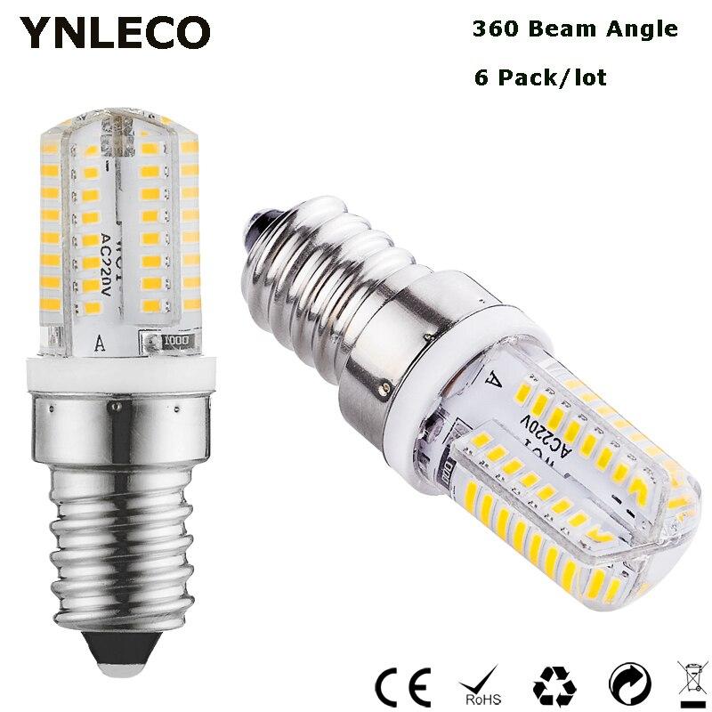6X E14 LED Bulb Dimmable 110V 220V 3W LED E14 Bombilla 64LED 3014SMD Replace 10W 20W Halogen Lamp Crystal Chandelier 3000k 4000k