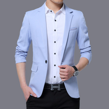 2020 Men's New Autumn Solid Color Men's Casual blazer Youth Slim Casual blazer