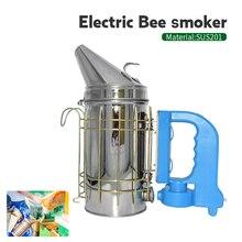 ขายร้อนสแตนเลสสตีล Bee Smoke ชุดเครื่องส่งสัญญาณไฟฟ้าเครื่องมือการเลี้ยงผึ้ง Apiculture Beekeep เครื่องมือผึ้งสูบบุหรี่