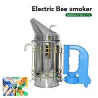 Gorąca sprzedaż ze stali nierdzewnej elektryczne Bee dymu zestaw elektryczny narzędzie pszczelarskie pszczelarskie Beekeep narzędzia Bee palacz