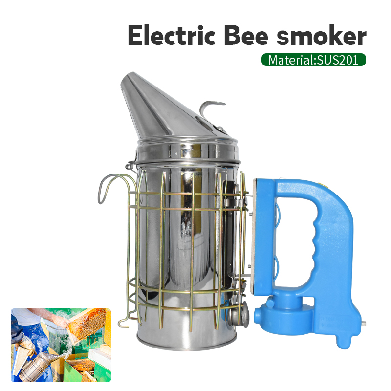 Hot Sale Stainless Steel Electric Bee Smoke Transmitter Kit Electric Beekeeping Tool Apiculture Beekeep Tools Bee Smoker