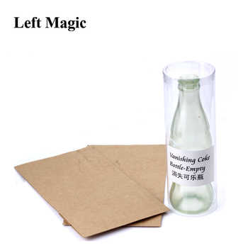 Vanishing Cole Bottle Empty Magic Tricks Coke Stage Close Up Illusions Accessories Mentalism Fun Magic Props Classic Toy Gimmick