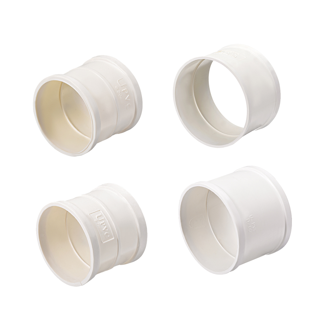 Uxcell 1-10pcs PVC Pipe Fitting Coupling Schedule 40 White 50mm 75mm 90mm 110mm 160mm Socket For Connection