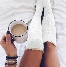 Explosão de renda sobre o joelho pilha de meias meias de lã inverno outono primavera novo longo alta 2021 novas mulheres sexy hipster bonito tricô