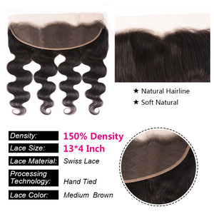 Image 3 - Unice Hair Brazilian Body Wave Lace Frontal 100% Human Hair 13x4 Ear To Ear Lace Closure Remy Hair Frontal Pre Plucked
