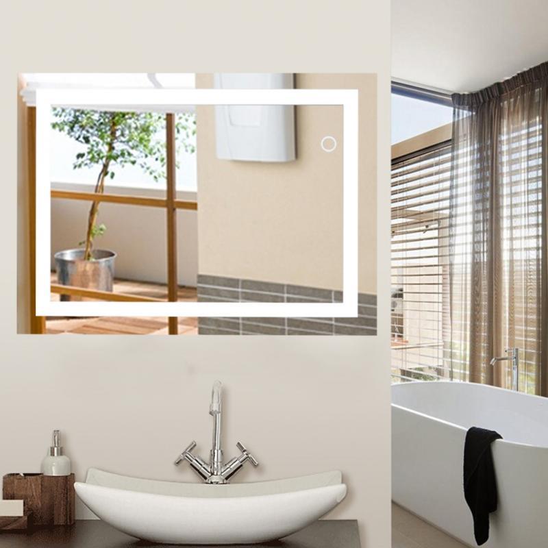 Smart Makeup Mirror LED Bathroom Mirror Wall Bathroom Bathroom Toilet Anti Fog Mirror With Touch Screen Lighted Vanity HWC