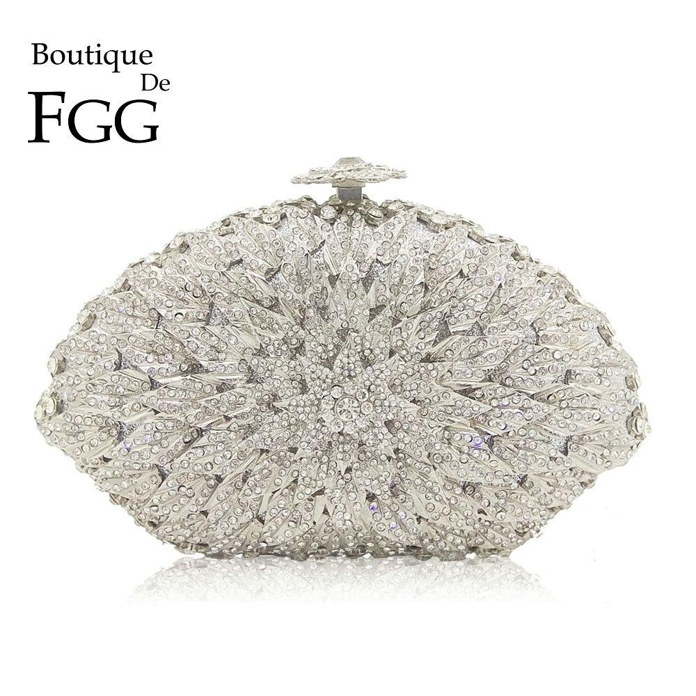 Femmes Fleur de Cristal Soirée Clutch Bags women/'s Fête De Mariage Sacs à main nouveau