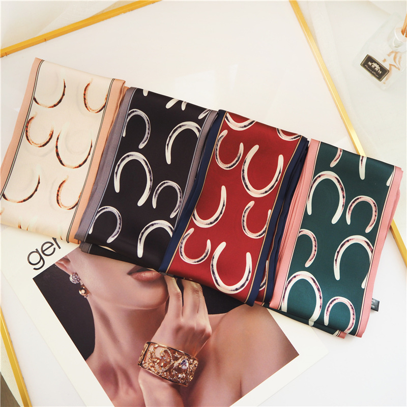 New Fashion Women Print Wrap Luxury Brand Silk Infinity Scarf Autumn Ladies Shawls Ponchos Capes Neckerchief Headband Head Scarf in Women 39 s Scarves from Apparel Accessories