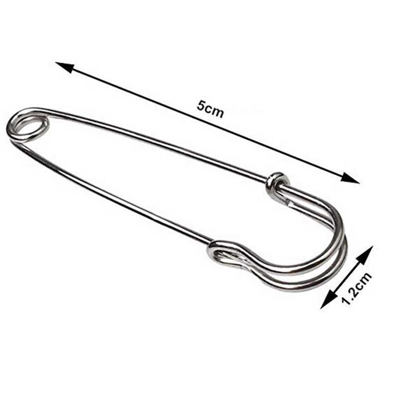 30Pcs Stainless Steel Safety Pins DIY Alat Alat Jahit Aksesori Jarum Peniti Besar Kecil Bros Aksesoris Pakaian