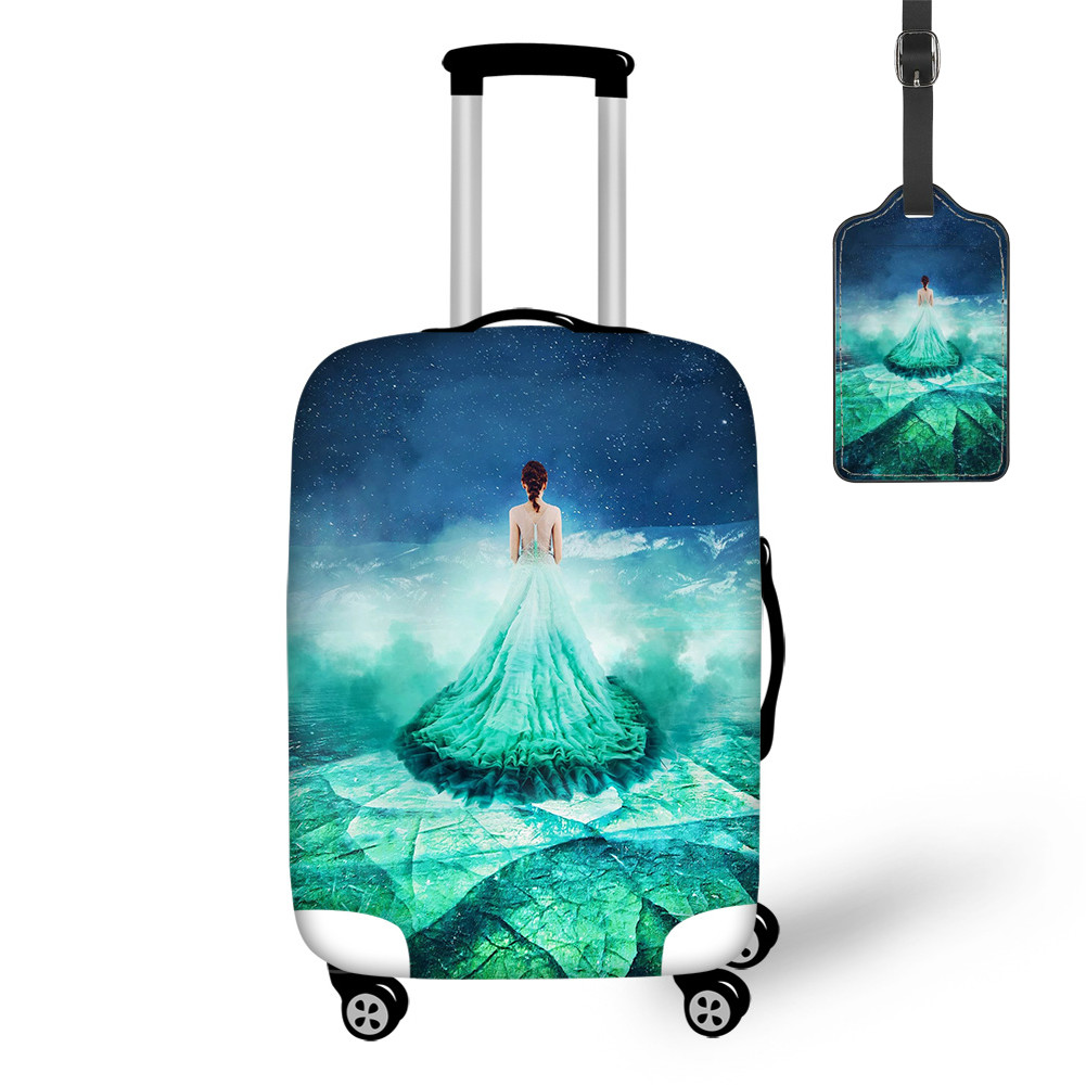 THIKIN 2020 Arrival Pretty Frozen Baikal Fairy Dress Print Travel Luggage Cover With Tag Case Covers For Tourism Convenience