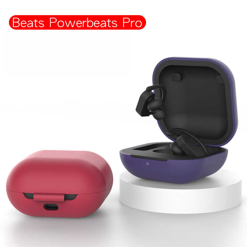 Perjalanan Silikon Case Pelindung Penutup Penuh untuk Beats Powerbeats Pro Nirkabel Headphone Sarung Headphone Sarung Headphone